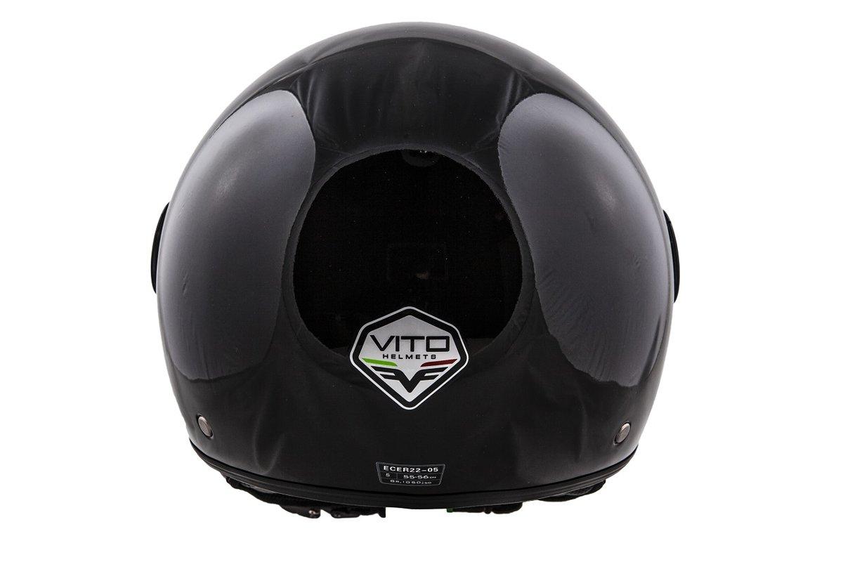 Vito Helmet Motorollera  ķivere LORETO, melna