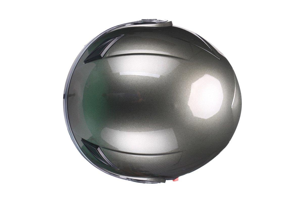Motorollera ķivere AMARO ar papildus saules aizsardzības stiklu, metāliska