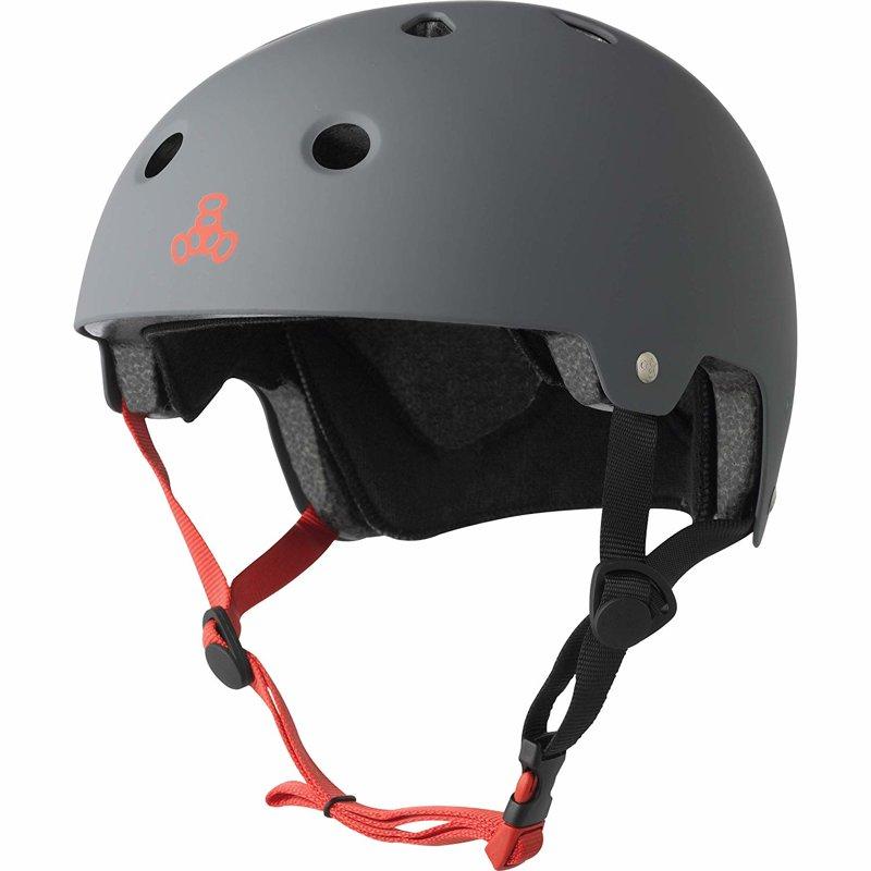 Triple Eight Brainsaver Skate Helmet, grey