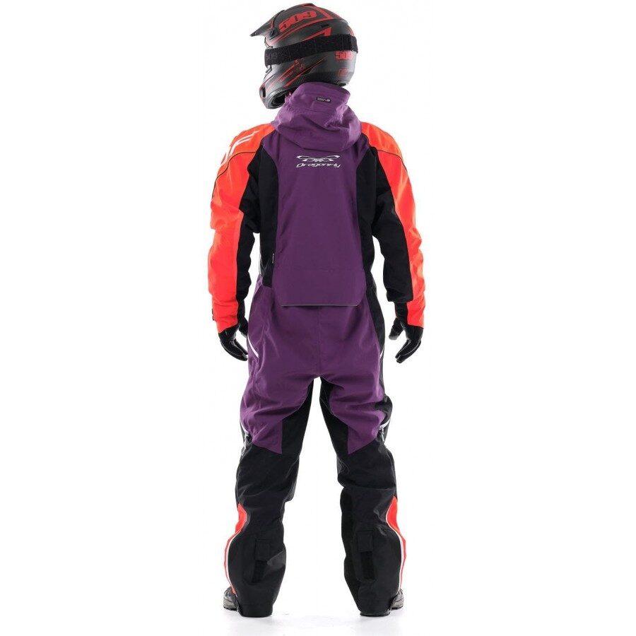 Dragonfly EXTREME vīriešu kopējais kombinezons snovbordam, sniega motociklam un citām ziemas aktivitātēm, ORANŽS / VIOLETS