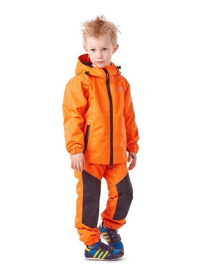 Bērnu lietus - membrānas komplekts (jaka, bikses) Dragonfly EVO Kids ORANGE