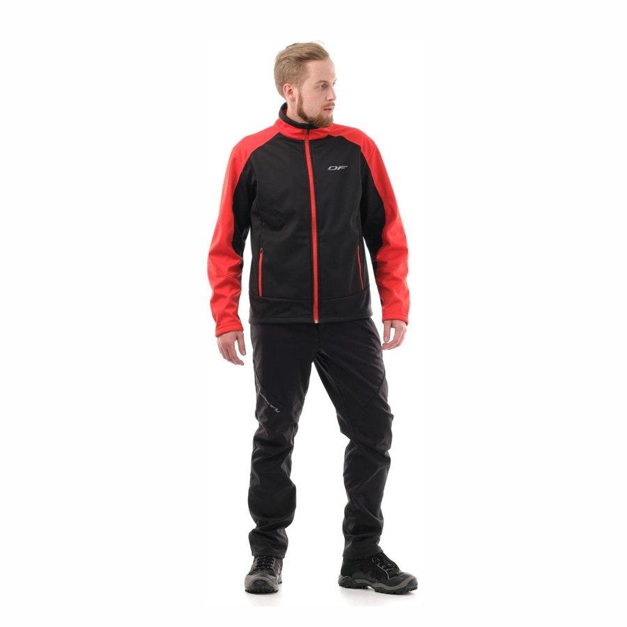 Vīriešu jaka Dragonfly Explorer Red, softshell