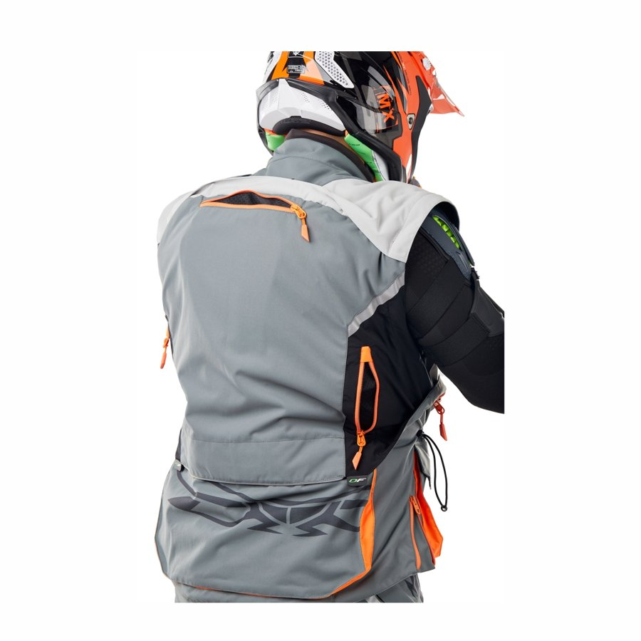 Jacket Enduro Freeride DF Grey-Orange