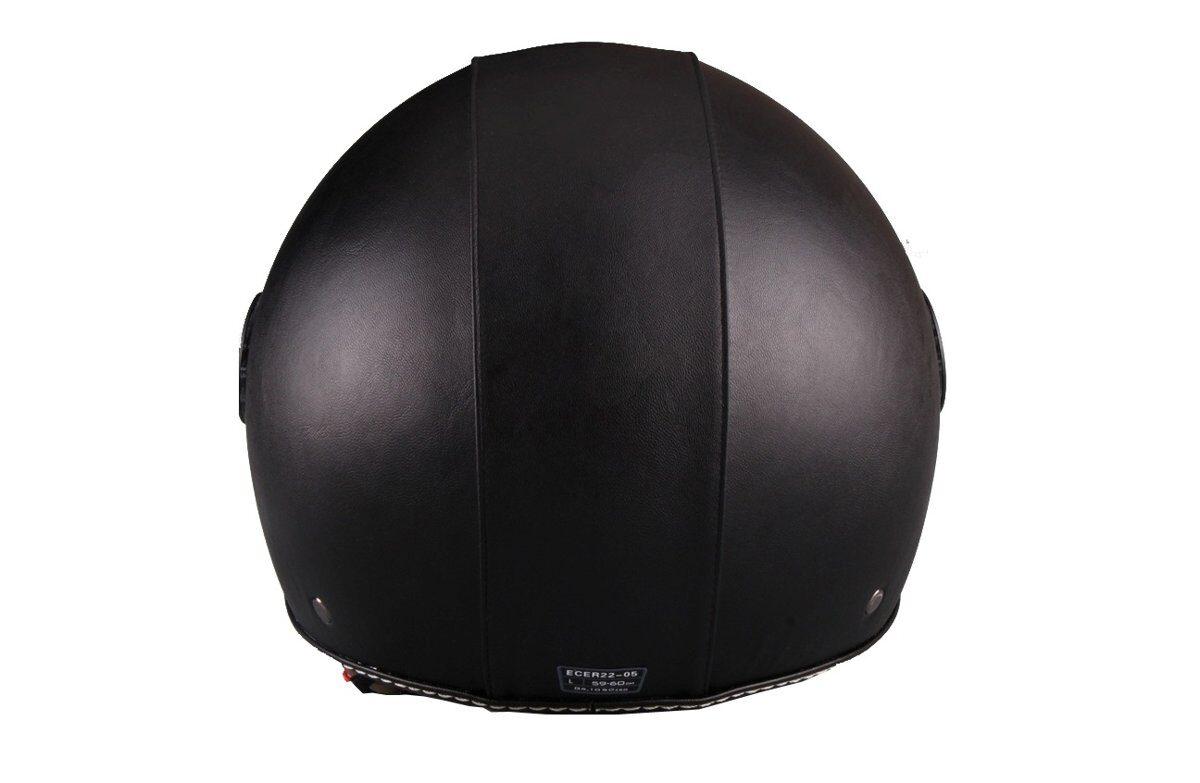 Motorollera ķivere Vito Helmet BERLIN ar ādas apdari