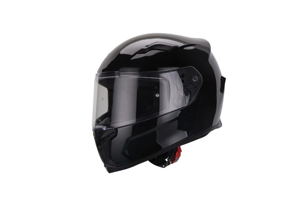 Moto ķivere VITO Helmets, modelis DUOMO, krāsa SPĪDĪGI MELNA