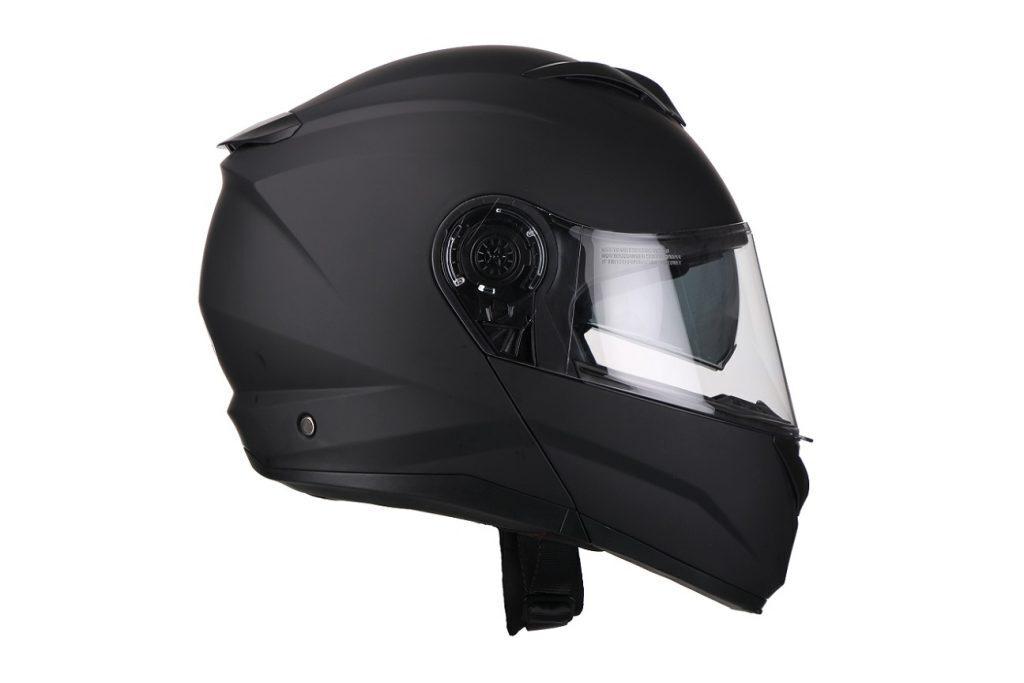 Moto ķivere Vito Helmets, modelis FURIO ar paceļamu žokli, krāsa MATĒTI MELNA