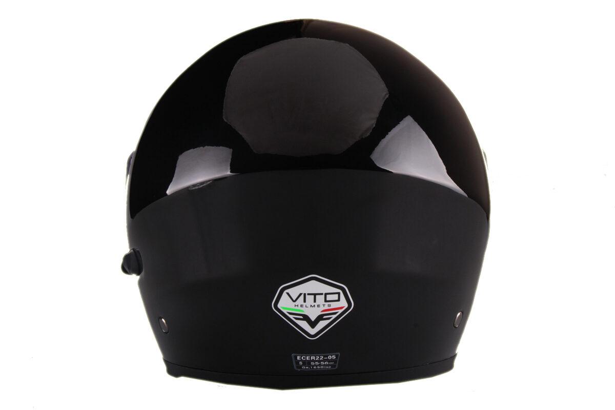 Moto ķivere LANZETTI, ar paceļamu žokli, melna spīdīga