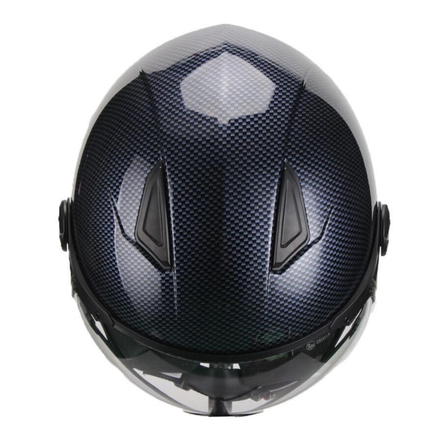 Motorollera ķivere MODA, carbon krāsa