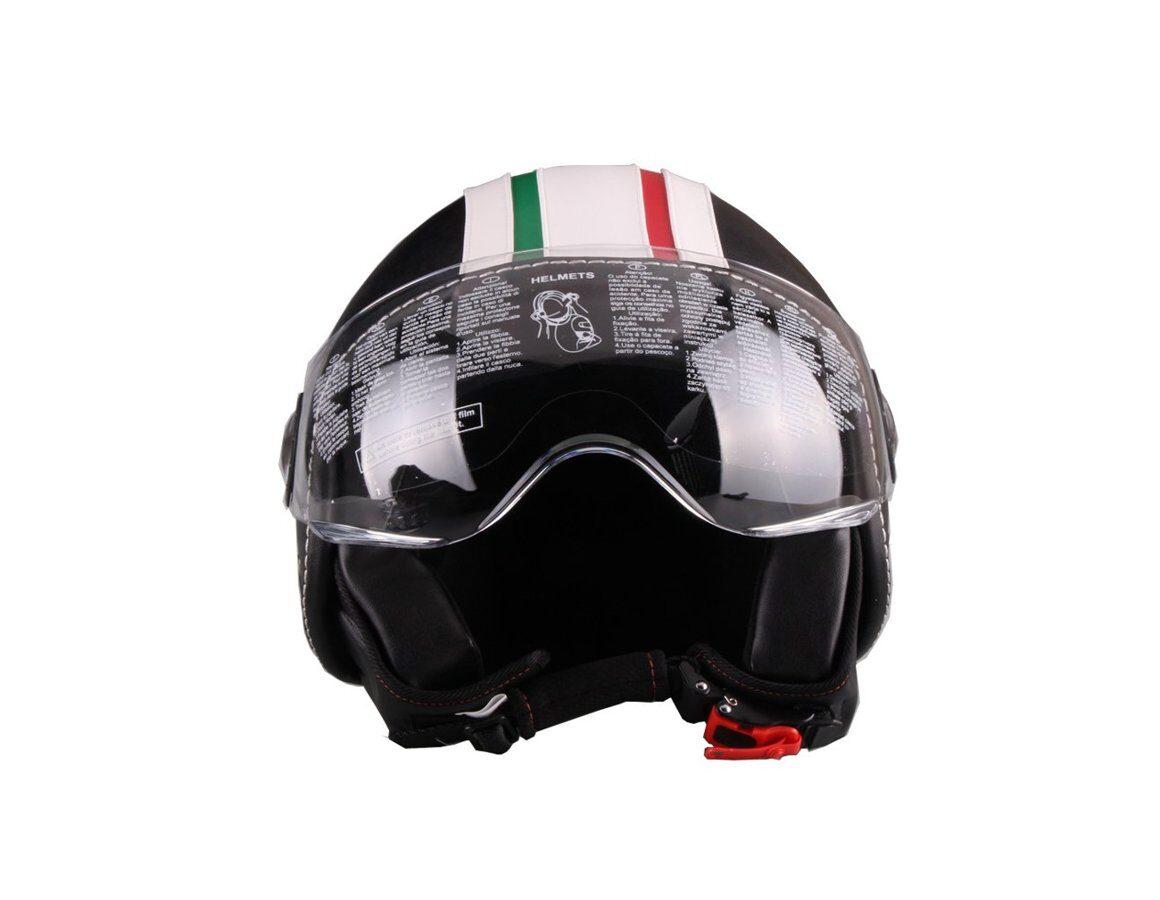 Motorollera ķivere VITO ROMA ar ādas apdari