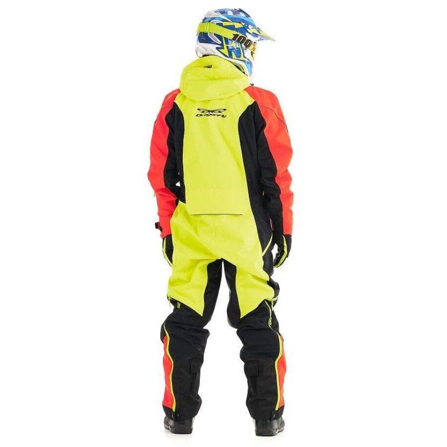 Dragonfly EXTREME vīriešu kopējais kombinezons snovbordam, sniega motociklam un citām ziemas aktivitātēm, SARKANS / DZELTENS