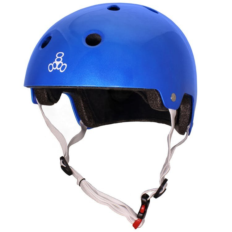 Triple Eight Brainsaver Skate Helmet, metallic blue