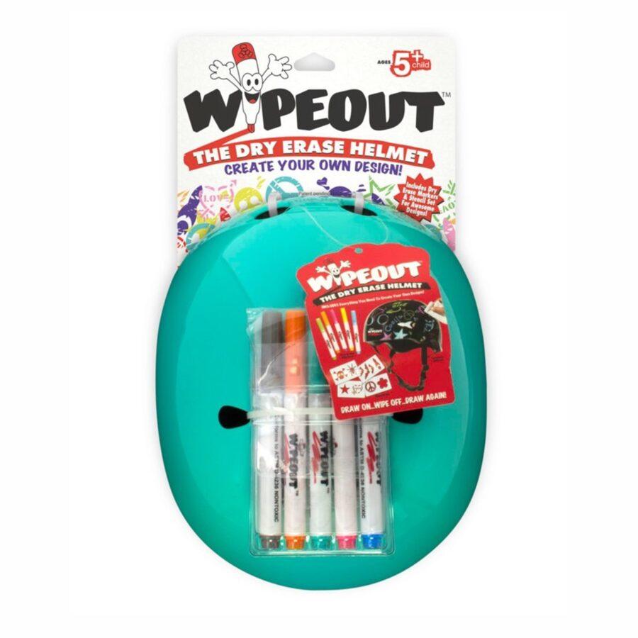 Aizsargķivere Wipeout Dry Erase Kids, zilganzaļa, L izmērs