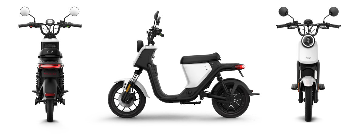 NIU UQi Pro electric scooter, white