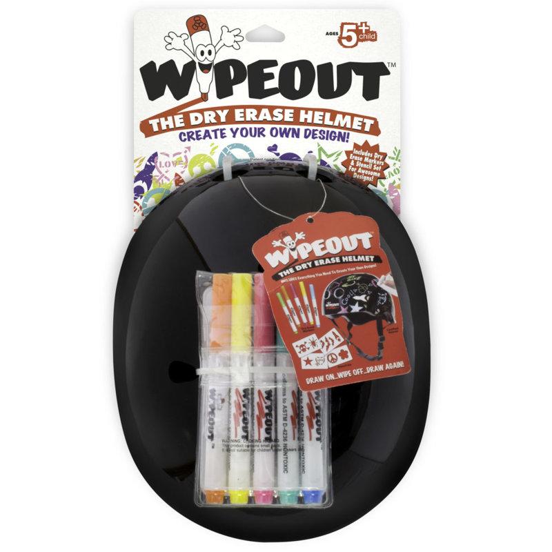 Aizsargķivere Wipeout Dry Erase Kids, melna, L izmērs