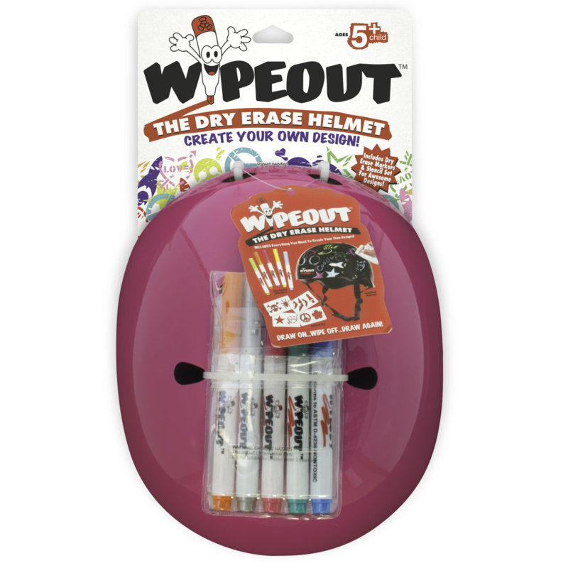 Aizsargķivere Wipeout Dry Erase Kids, neona rozā, L izmērs