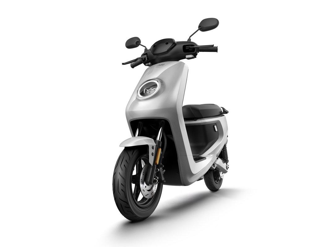 NIU M + Sport elektrinis paspirtukas, sidabro spalvos
