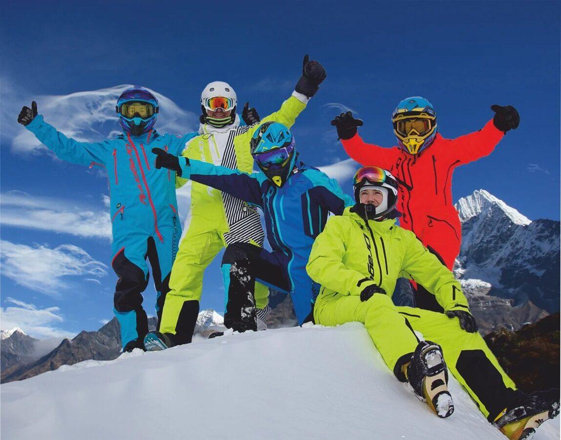 DRAGONFLY OVERALL EXTREME vīriešu kombinezons ziemas aktivitātēm, MELNS / SARKANS