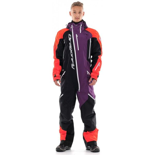 DRAGONFLY OVERALL EXTREME MEN ORANGE-PURPLE