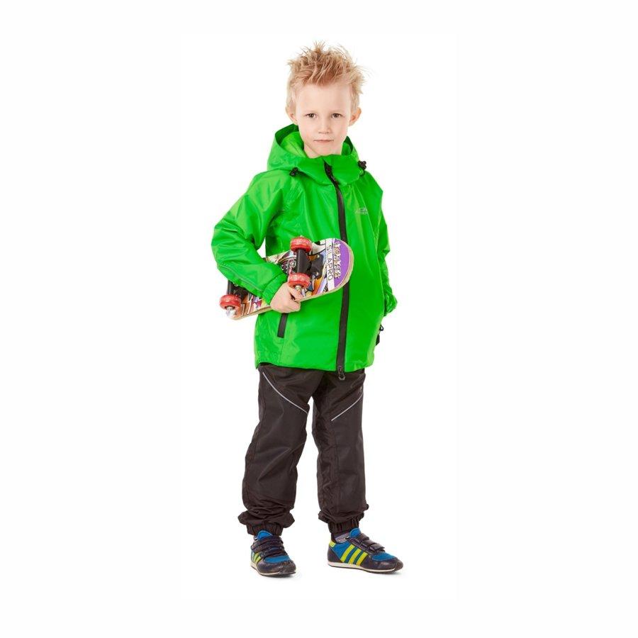 Children's rain kit membrane (jacket, pants) Dragonfly EVO Kids GREEN