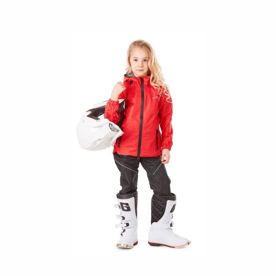 Children's rain kit membrane (jacket, pants) Dragonfly EVO Kids RED