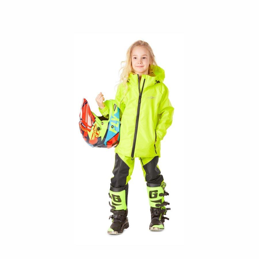 Children's rain kit membrane (jacket, pants) Dragonfly EVO Kids YELLOW
