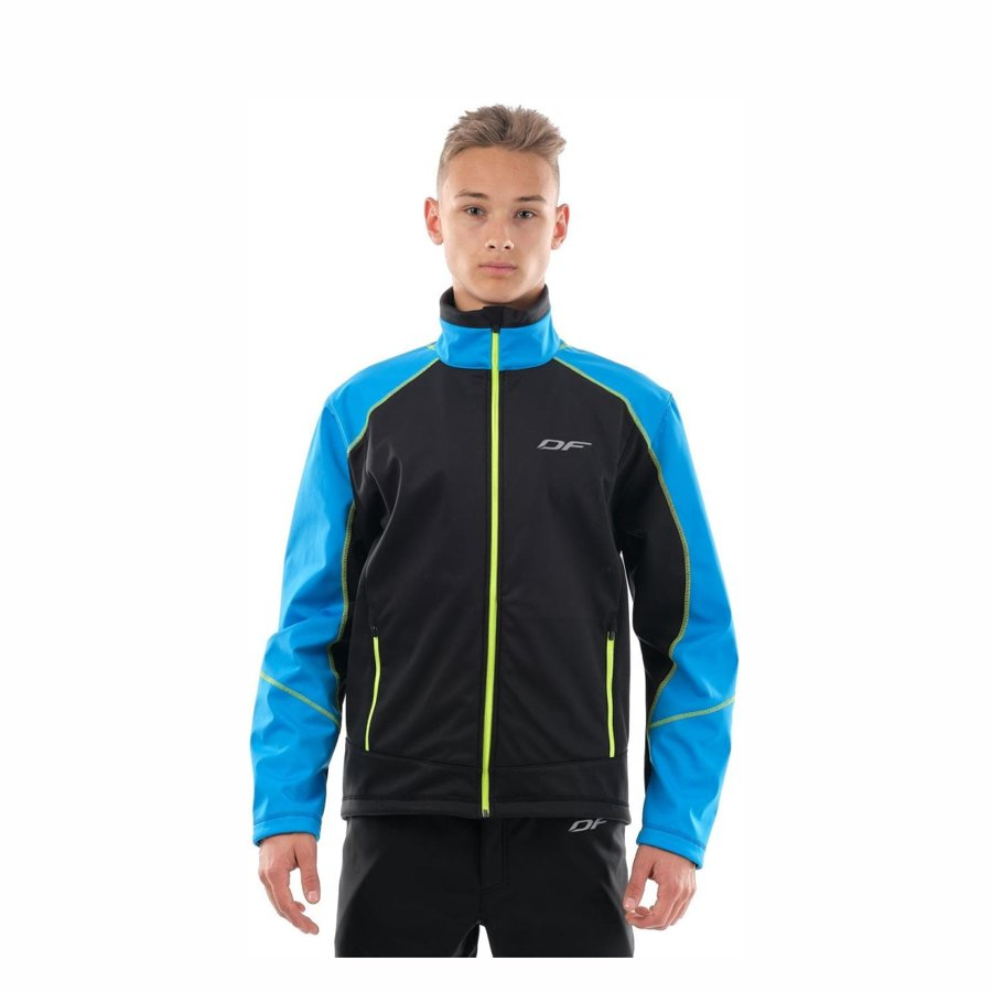 Vīriešu jaka Dragonfly Explorer BLUE-YELLOW, softshell