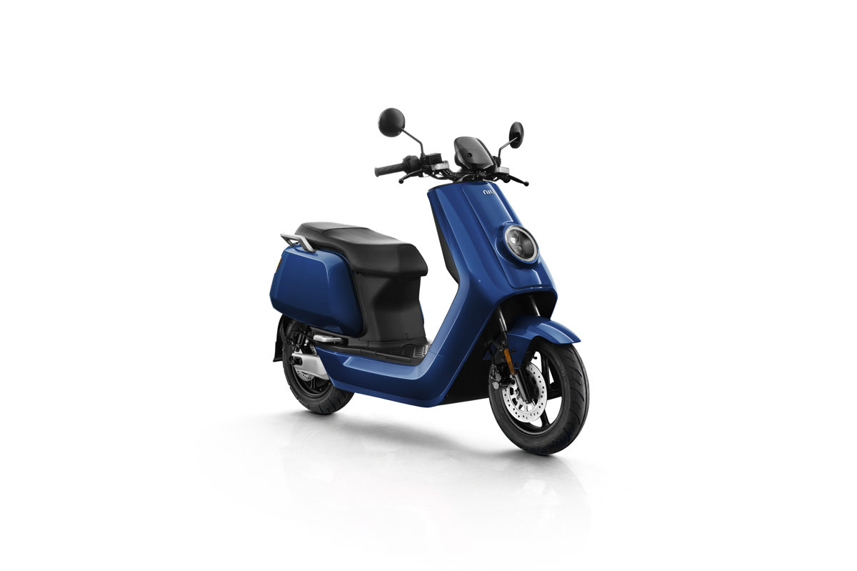 NIU NQi Sport electric scooter, blue
