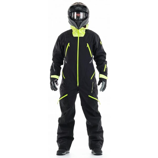 DRAGONFLY OVERALLS EXTREME 2.0 MAN BLACK YELLOW - GREEN FLUO