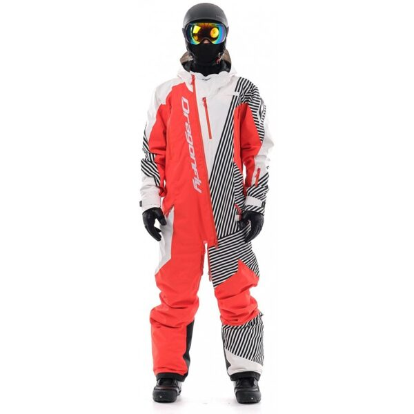 DRAGONFLY OVERALL SKI PREMIUM MEN MONOSUIT RED-WHITE