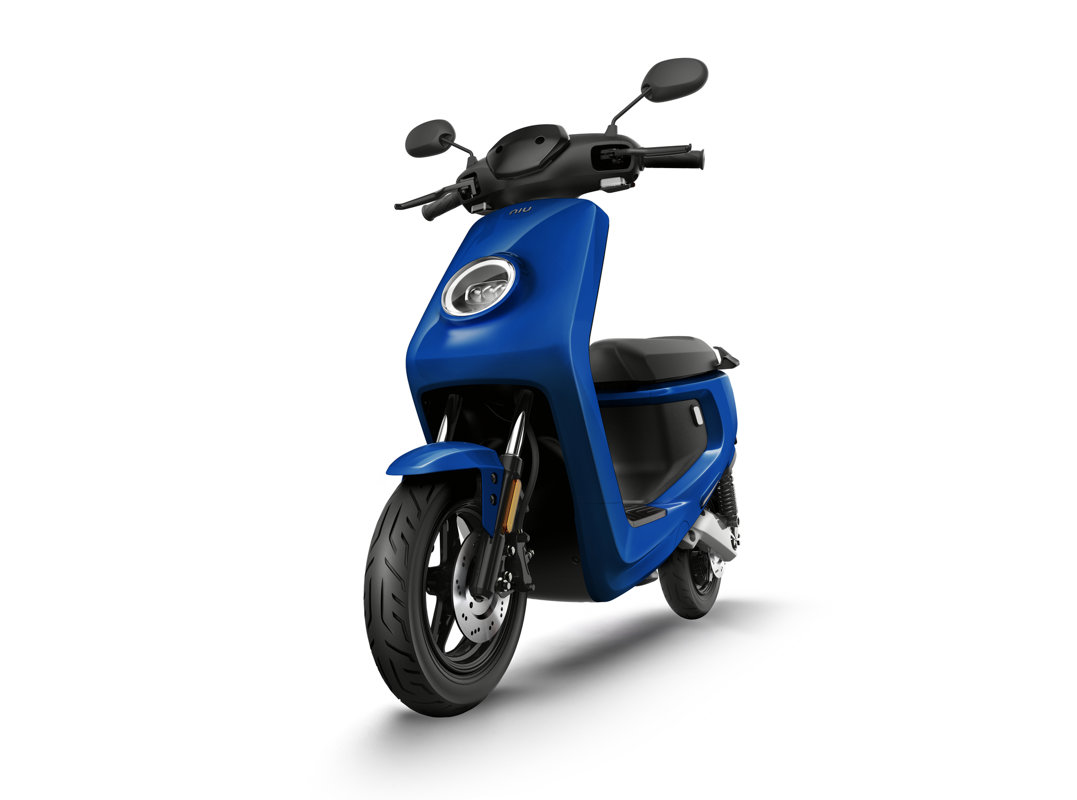 NIU MQi+ Sport electric scooter, blue