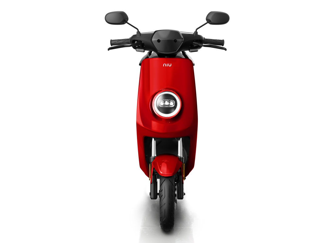 NIU MQi+ Sport electric scooter, red