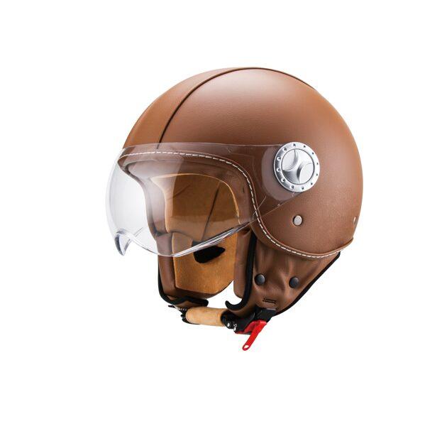 Vito Helmet Motorollera ķivere AMSTERDAM ar ādas apdari