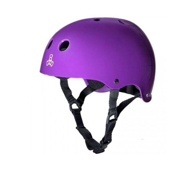 Triple Eight Brainsaver шлем, фиолетовый блестящий